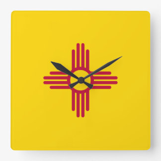 New Mexico Flag Square Wall Clock