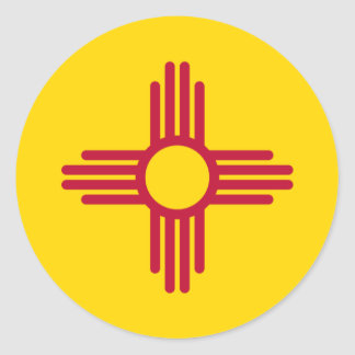 New Mexico Flag Classic Round Sticker