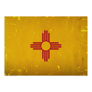 New Mexico Flag VINTAGE.png 5x7 Paper Invitation Card