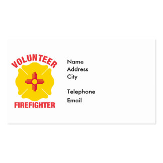 New Mexico Flag Volunteer Firefighter Cross Business Cards