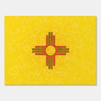 NEW MEXICO FLAG LAWN SIGNS
