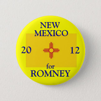 New Mexico for Romney 2012 Pinback Button