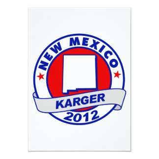 New Mexico Fred Karger 5x7 Paper Invitation Card