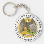 New Mexico Great Seal Basic Round Button Keychain