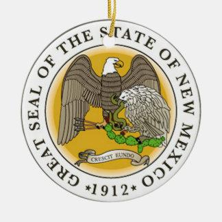 New Mexico Great Seal Ceramic Ornament