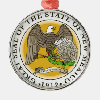 New Mexico Great Seal Metal Ornament