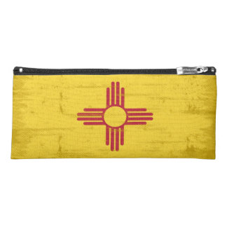 New Mexico grunge Flag. Flag of New Mexico with Pencil Case