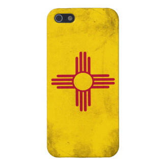 New Mexico Grunge- Zia Sun Symbol Cover For iPhone SE/5/5s