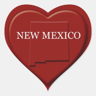 New Mexico Heart Map Design Sticker