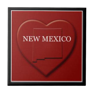 New Mexico Heart Map Home Decor Tile
