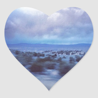 New Mexico Highway at Dusk Heart Sticker