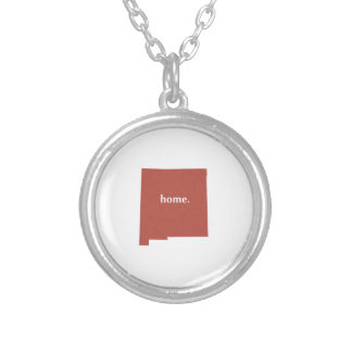 New Mexico Home State Red Round Pendant Necklace