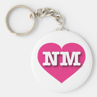 New Mexico hot pink heart Big Love Keychain