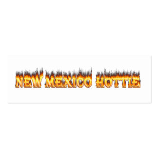New Mexico hottie fire and flames Double-Sided Mini Business Cards (Pack Of 20)
