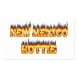 New Mexico hottie fire and flames Double-Sided Standard Business Cards (Pack Of 100)