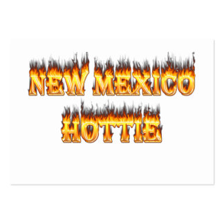 New Mexico hottie fire and flames Large Business Cards (Pack Of 100)