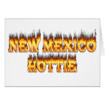 New Mexico hottie fire and flames Cards