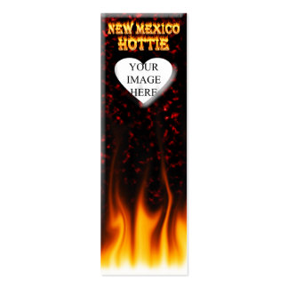 New Mexico Hottie fire and red marble heart Business Cards
