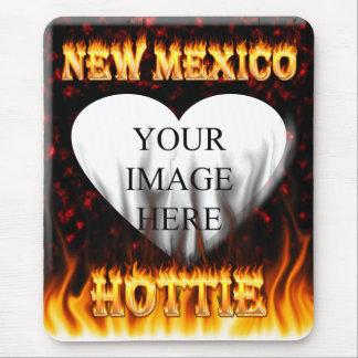 New Mexico Hottie fire and red marble heart Mouse Pad