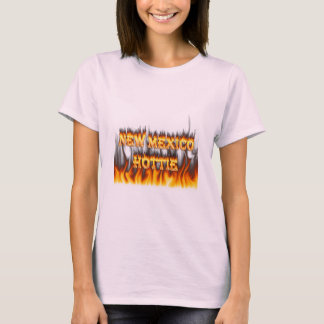 New Mexico Hottie fire and red marble heart T-Shirt