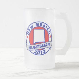 New Mexico Jon Huntsman 16 Oz Frosted Glass Beer Mug