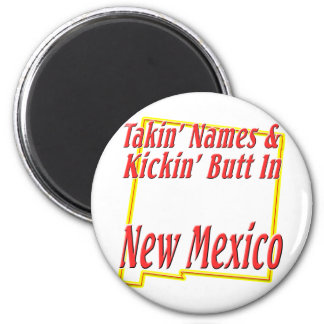 New Mexico - Kickin' Butt 2 Inch Round Magnet