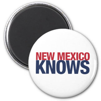 New Mexico Knows 2 Inch Round Magnet