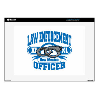 """New Mexico Law Enforcement Officer Handcuffs 15"""" Laptop Skin"""