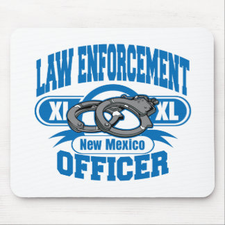 New Mexico Law Enforcement Officer Handcuffs Mouse Pad