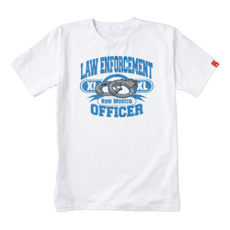 New Mexico Law Enforcement Officer Handcuffs Zazzle HEART T-Shirt