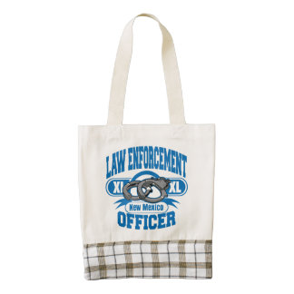 New Mexico Law Enforcement Officer Handcuffs Zazzle HEART Tote Bag