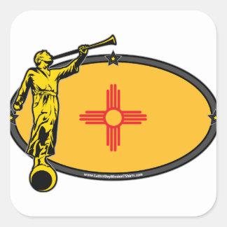 New Mexico LDS Mission no Label Angel Moroni Square Sticker