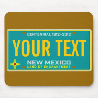 New Mexico license plate mouse pad