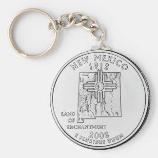 New México Llavero Redondo Tipo Pin
