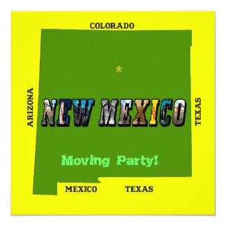 """New México, los E.E.U.U. Invitación 5.25"""" X 5.25"""""""