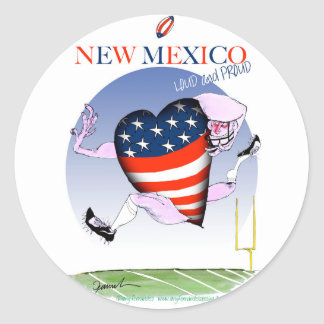 new mexico loud and proud, tony fernandes classic round sticker
