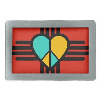 New Mexico, Love, Peace Belt Buckle