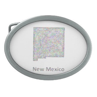 New Mexico map Belt Buckle