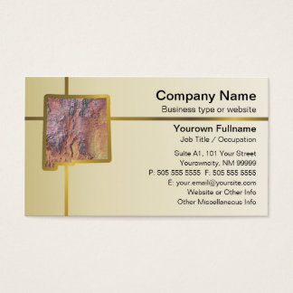 New Mexico Map Business Card