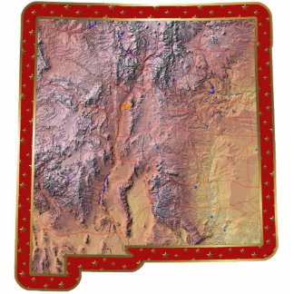 New Mexico Map Christmas Ornament Cut Out