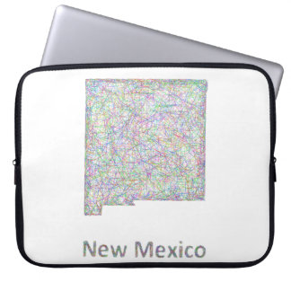 New Mexico map Computer Sleeve