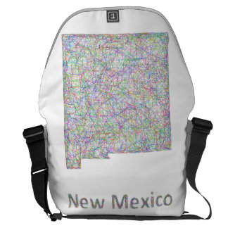 New Mexico map Courier Bag
