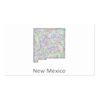 New Mexico map Double-Sided Standard Business Cards (Pack Of 100)