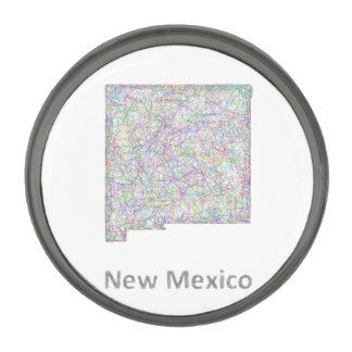 New Mexico map Gunmetal Finish Lapel Pin