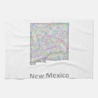 New Mexico map Hand Towel