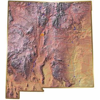 New Mexico Map Magnet Cut Out