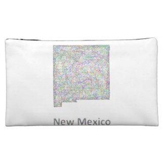 New Mexico map Makeup Bag