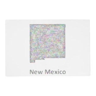 New Mexico map Placemat
