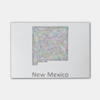 New Mexico map Post-it Notes