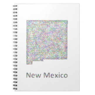 New Mexico map Spiral Notebook